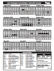 Lake Washington School District | 2018-19 Calendar – REVISED