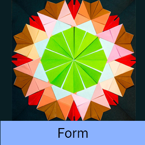 Example of the Form lesson: Radial Origami Sculpture