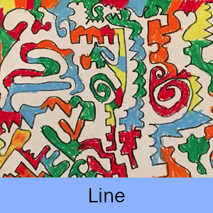 Example of the Line lesson: lines drawn and filled in with color