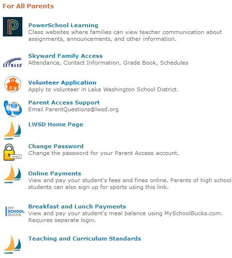 parent access support lake washington school district