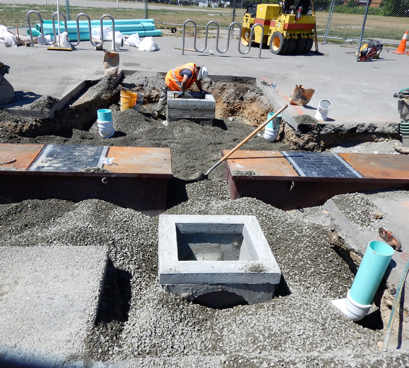 Partnership project brings storm water filtration improvements to Redmond Elementary