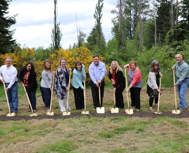 Groundbreaking at the new elementary school in north Redmond.