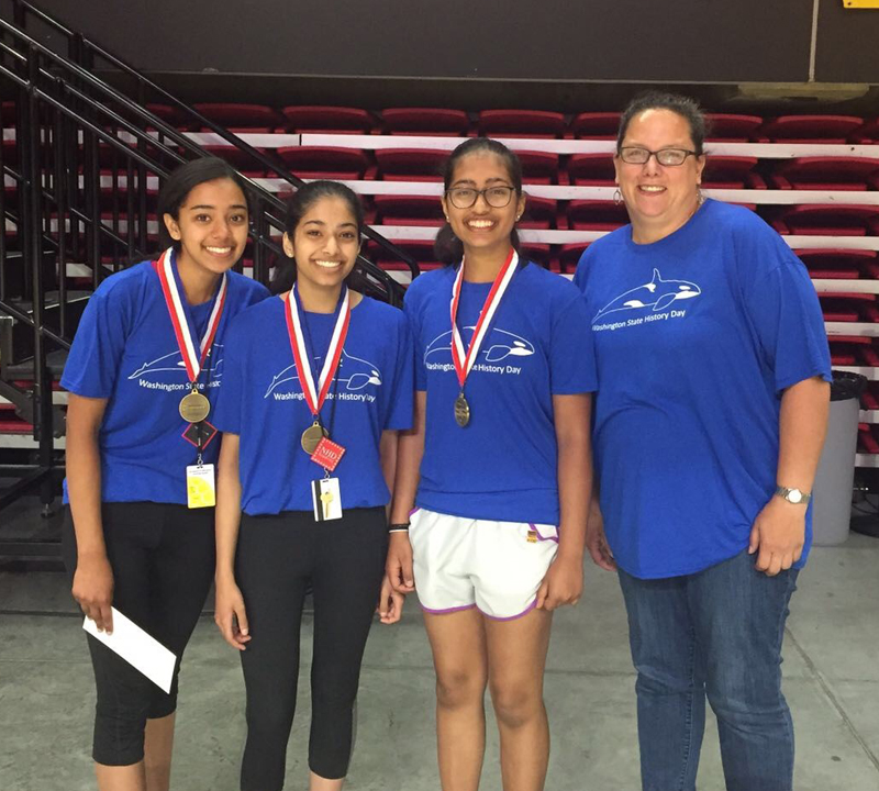 Evergreen Middle School team wins big at National History Day event