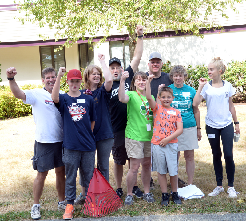 Volunteers at Rockwell Elementary School on Community SERVE Day