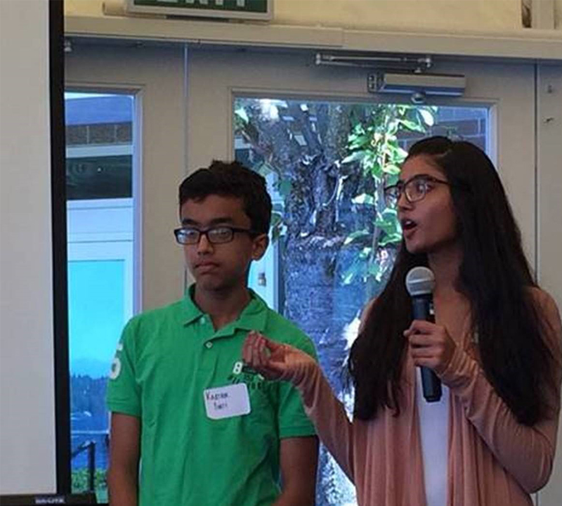 ICS students present sustainability update at Kirkland Chamber luncheon