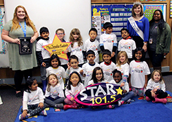 Kindergarten class of STAR 101.5 Teacher of the Week, Jennifer Kuehnle.