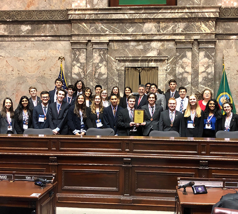 Eastlake students take third at We the People in Olympia