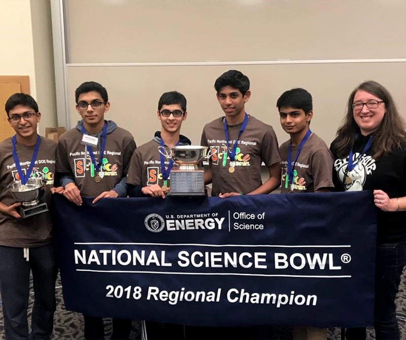 D.C. bound – Redmond High Science Bowl team going to nationals