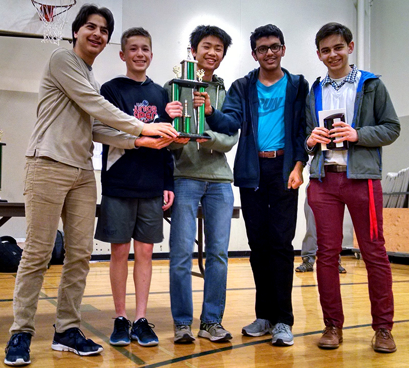 Knight to D-5, checkmate. Mustangs take 7th place at state chess tournament