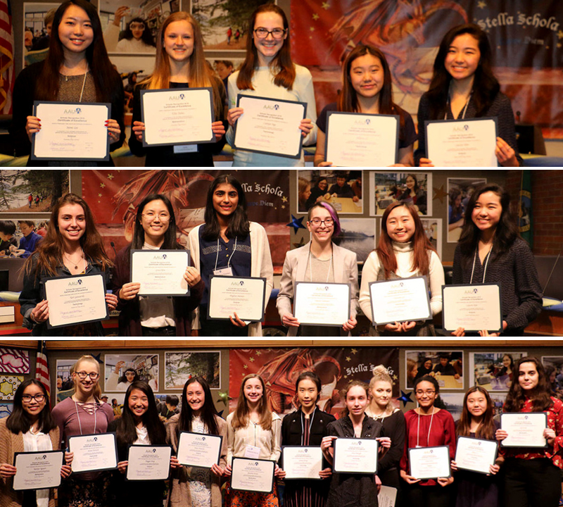 AAUW honors female LWSD students for their excellent work in STEM