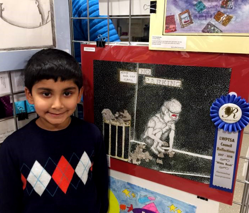 McAuliffe student wins state art competition, heads to nationals