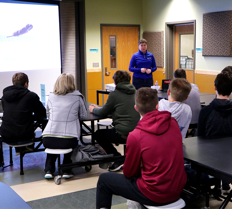To infinity, and beyond! – Blue Origin speaker encourages EHS students to find passion in their careers