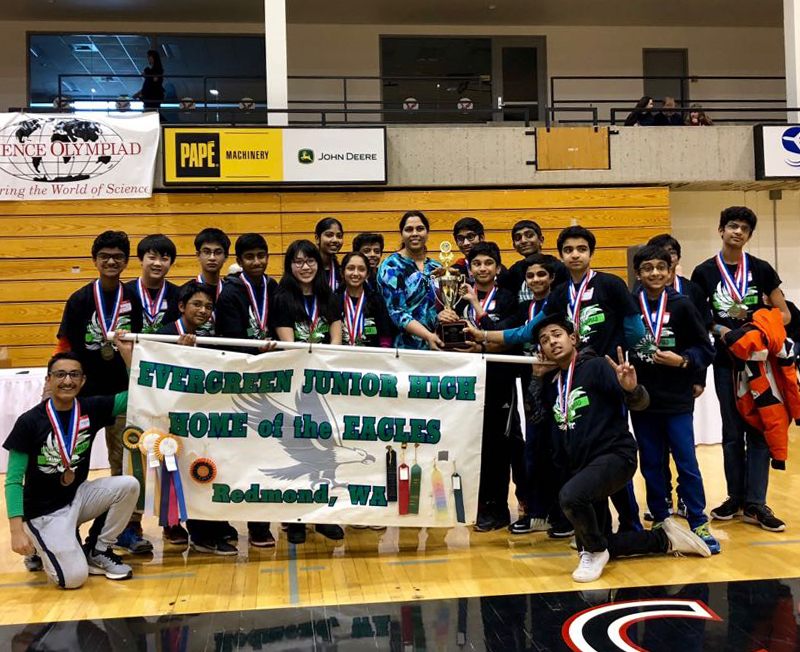 Keep on advancing – Evergreen Middle School science team going to Colorado for nationals