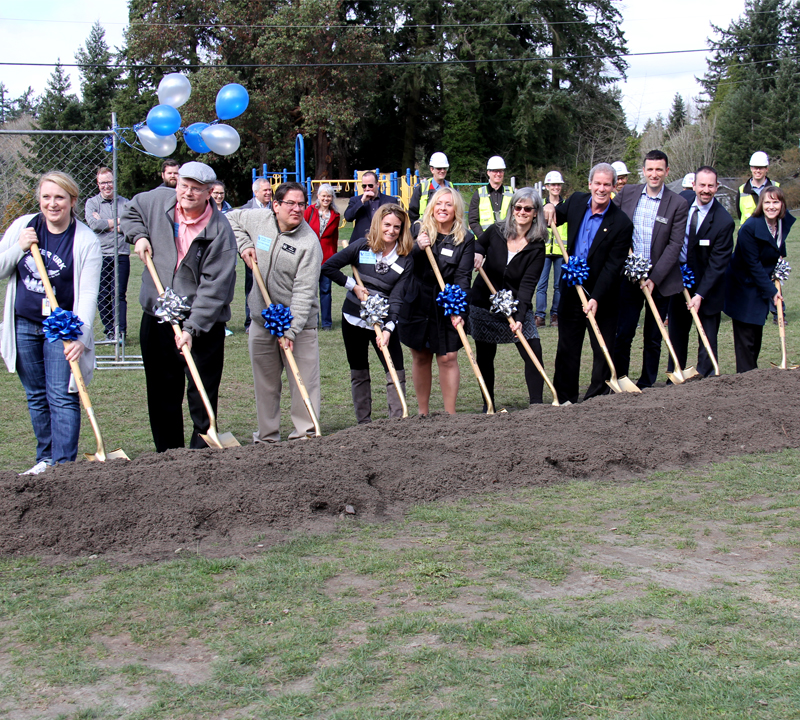 Groundbreaking ceremony at Peter Kirk Elementary School