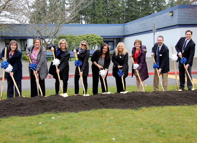 Groundbreaking ceremony at Margaret Mead Elementary School