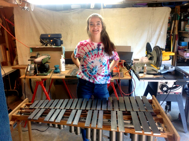 If you build it, she will play – RMS student plays on her own vibraphone