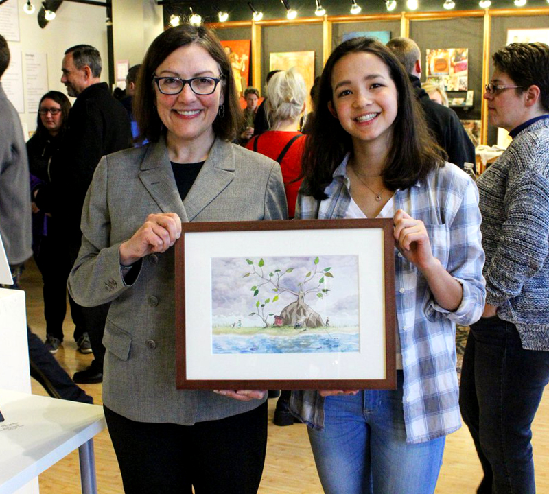 Going places: LWHS Sophomore wins congressional art contest