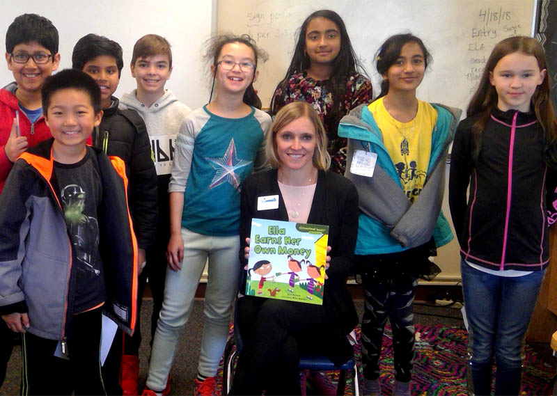 Put it in the bank – students learn important financial lessons with Sammamish Mayor