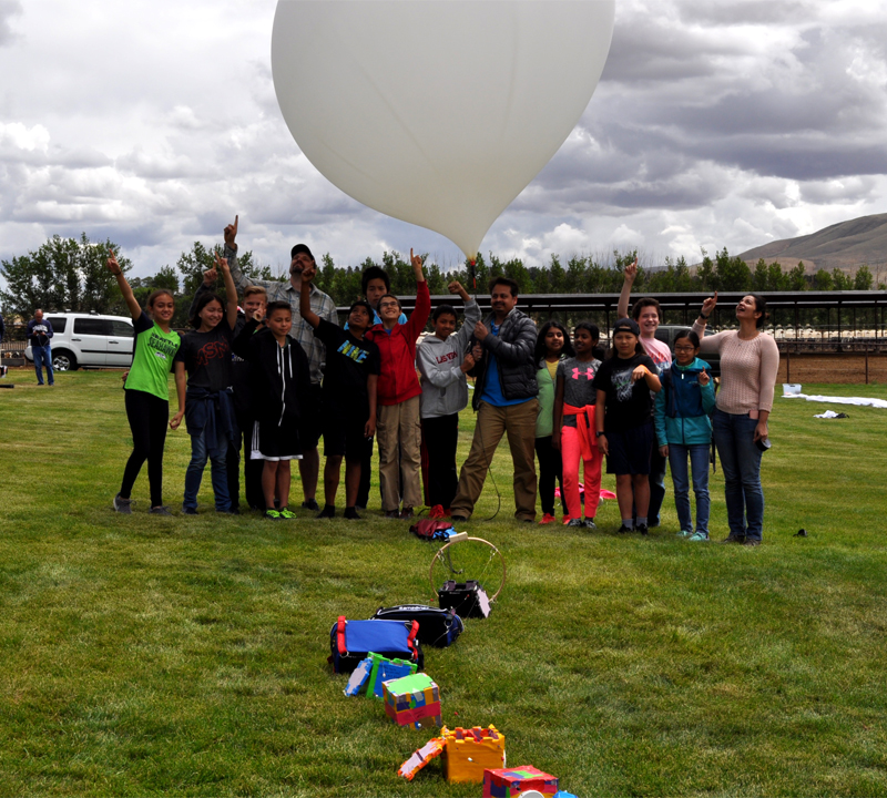 It's a bird, it's a plane, it's a weather satellite – RHMS students collect data 17 miles in the air