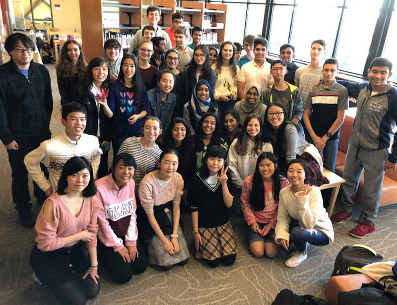 ICS students welcome Kobe University Secondary School students
