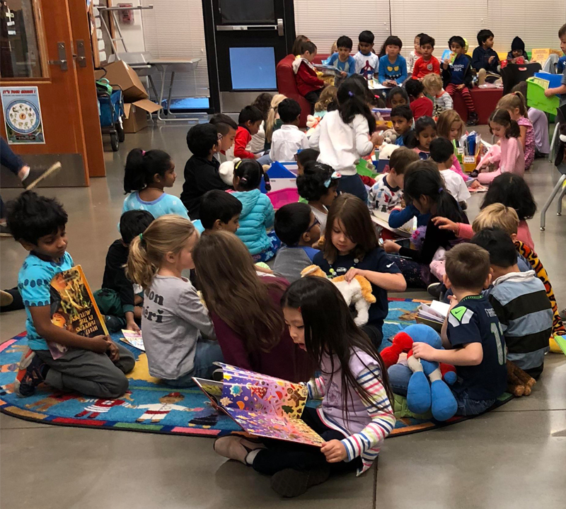 Twice the benefit: students read to raise money for school activities