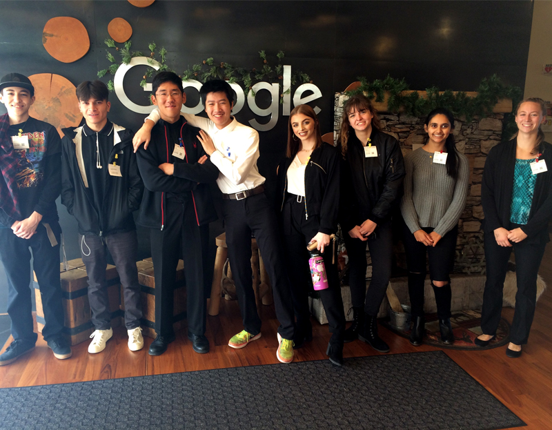 Students explore STEM careers at Google and network through the Kirkland Chamber