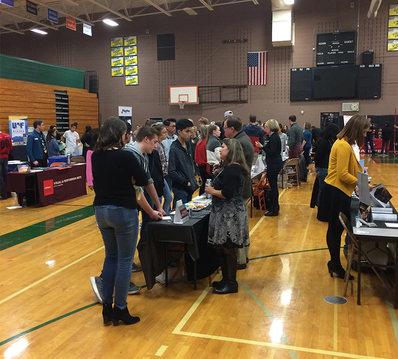 Think about your future – 300 families attend Redmond High's annual college fair
