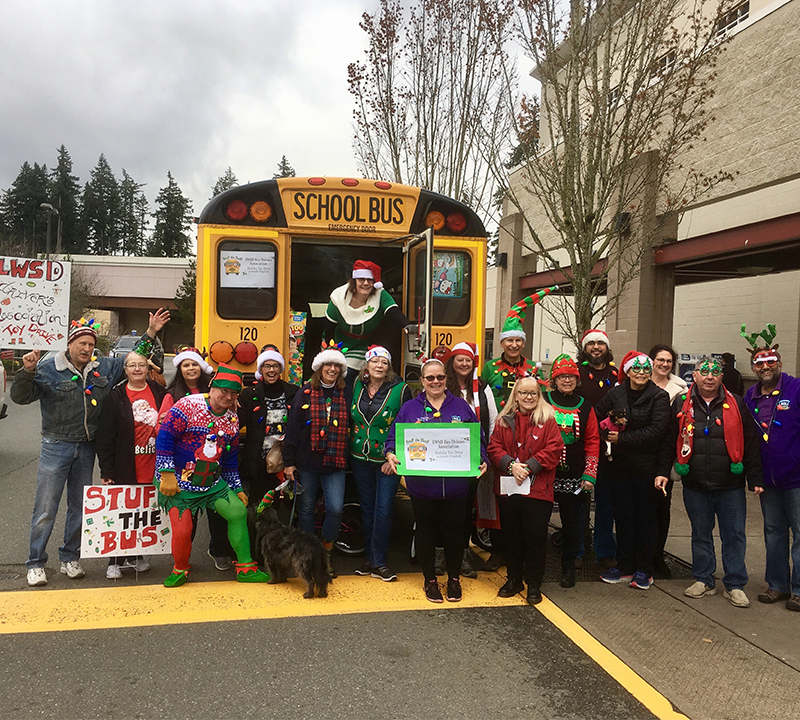 Nothing better than a bus full of toys – LWSD bus drivers collect more than 850 items for toy drive