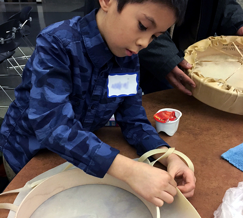 Bang the drum: Activity teaches Native American students about their heritage
