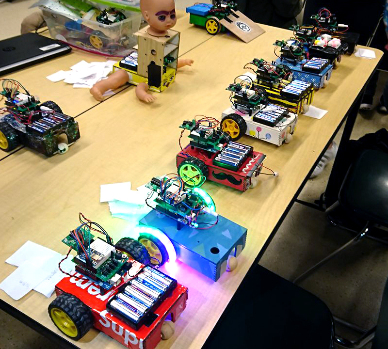 What a technical world: students create robots in preparation for a future in the workforce