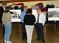 Parents and community members view plans for new Juanita High School
