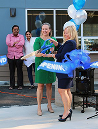 Principal Karen Barker and LWSD Superintendent Dr. Traci Pierce cut the ceremonial ribbon