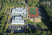 Aerial view of JHS in October 2017