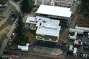 Aerial view of the new elementary school in north Redmond
