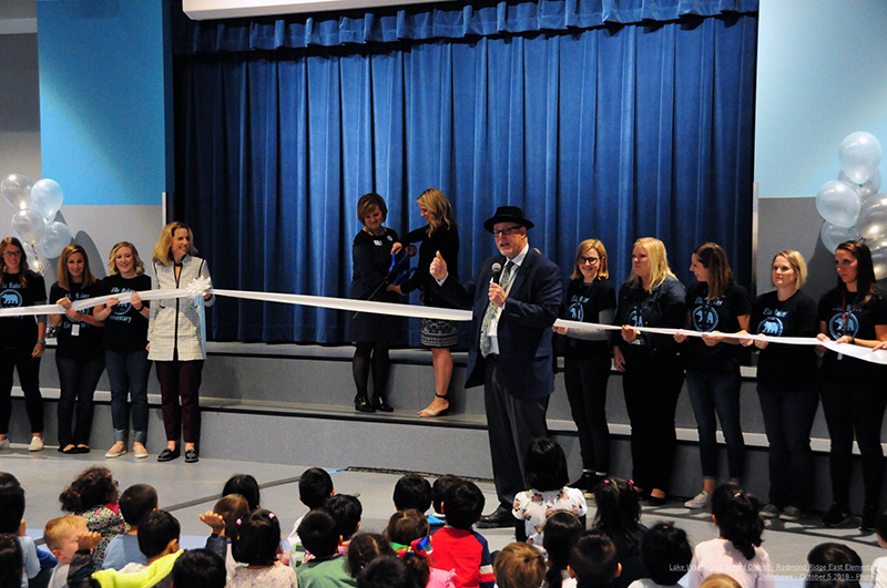 "Ella Baker Elementary students ""Give Light"" during Grand Opening Ceremony"