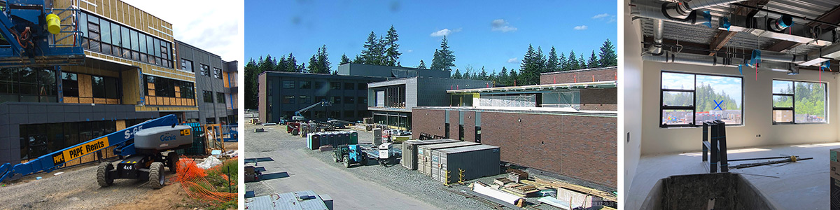 Exterior of new middle school under construction