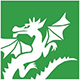 Dickinson Elementary logo - dragon
