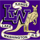 LWHS logo: kangaroo, the words