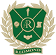 Redmond High School logo - R with mustang