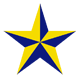 Stella Schola logo: yellow and blue star