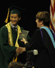 RHS graduate receives his diploma